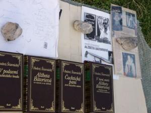 4 der 5 Büchern von Andrej Stiavnicky über Cachtice