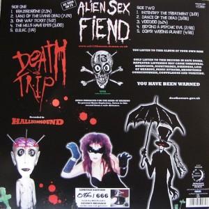 """Rückseite """"Death Trip"""" Artwork von Nik Fiend"""