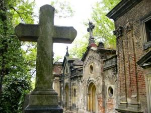 gothic prag friedhof olsany kreuz und gruften