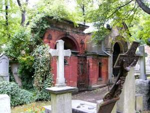 gothic prag katholischer friedhof olsany