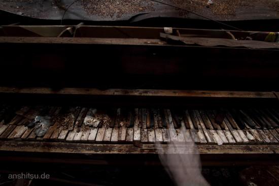 Urbex-Klavier