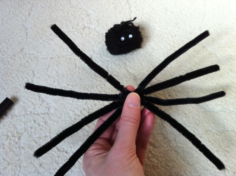 Spinnen Basteln Halloween Party Deko Selber Machen Der Schwarze
