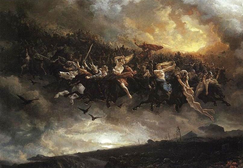 """""""Odins wilde Jagd"""" des norwegischen Malers Peter Nicolai Arbo (1872)"""