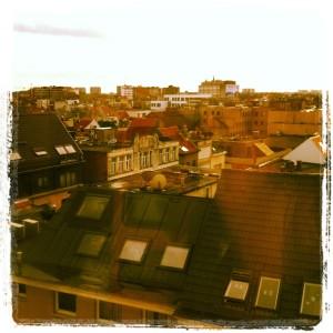 Über den Dächern von Antwerpen