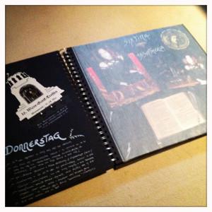 Als ich noch WGT-Fotos und eine der besten WGT-Karten ever von Hand einklebte...
