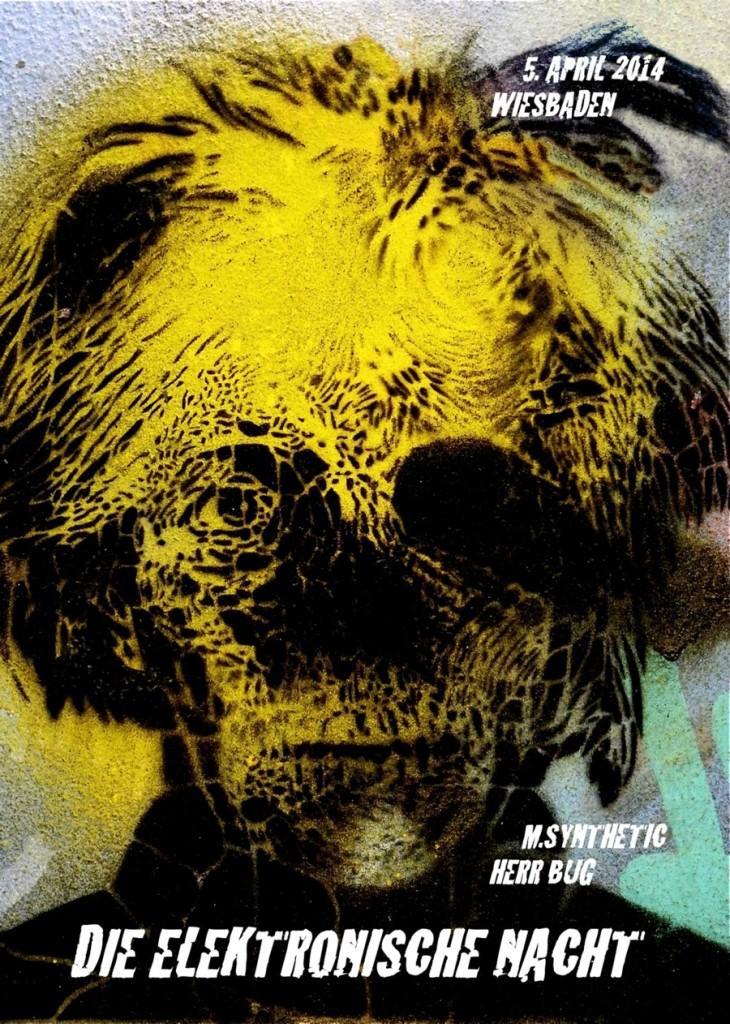 Flyer zur Elektronischen Nacht 2014 - Front