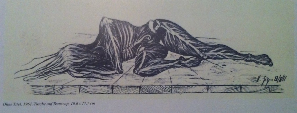 Zeichnung von HR Giger, 1961, Ohne Titel