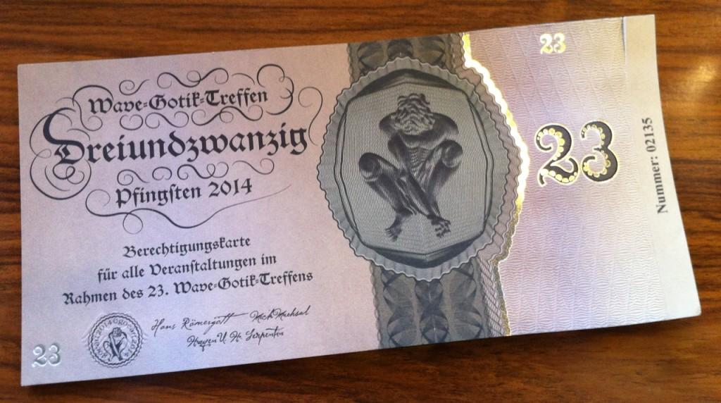 Sehr gelungenes WGT-Ticket dieses Jahr wieder.