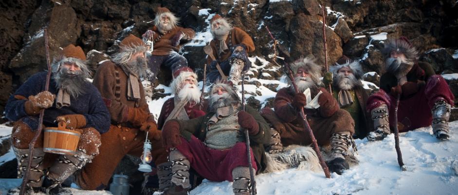 Eine Auswahl isländischer Weihnachtsmänner von Dimmuborgir (Foto: www.visitmyvatn.is)