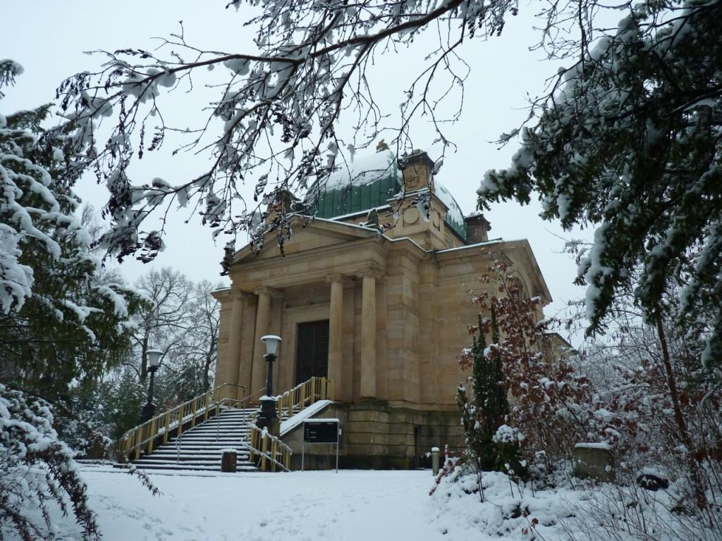 """Das alte Krematorium - erbaut vom """"Verein für Feuerbestattung in Mainz"""""""
