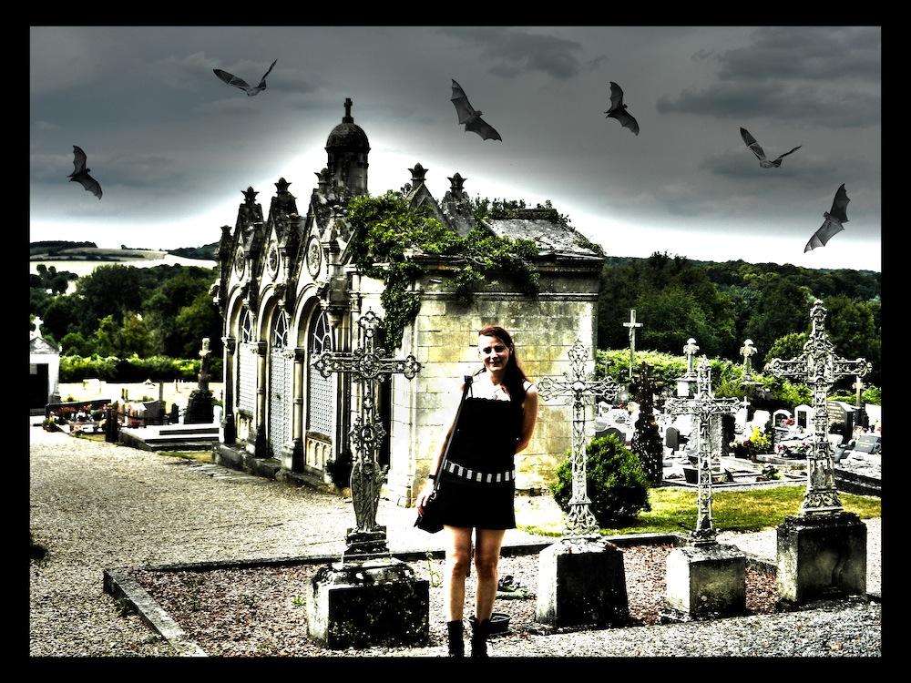 Me & ^^friends^^ auf dem Friedhof in Conty (Danke für das Foto an André Bug)