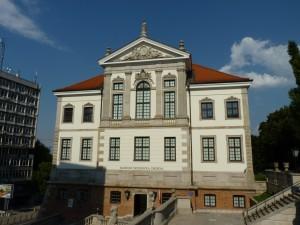 Museum von Frederic Chopin - links die Treppe runter rennt man direkt in einen coolen Plattenladen
