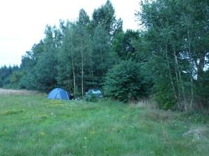 Unser Zeltversteck - wild campen ist in Polen nicht erlaubt