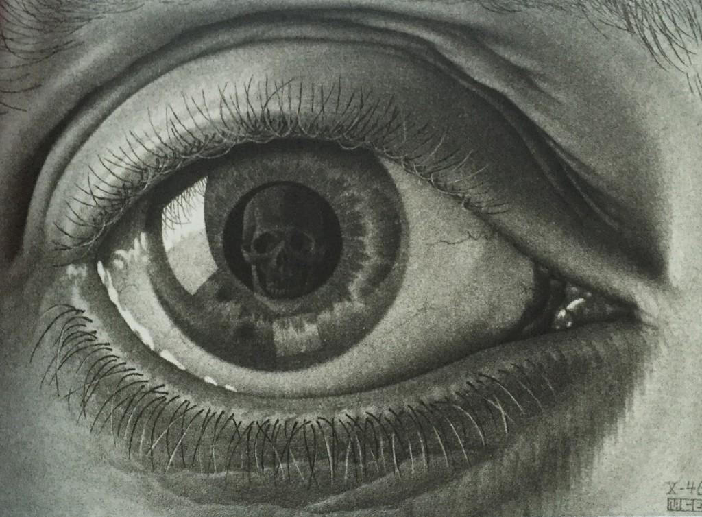 Auge, 1947, Mezzotinto - M.C. Escher
