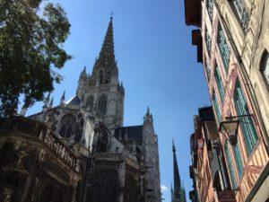 """Die schöne Kirche von Saint Maclou """"von hinten"""""""