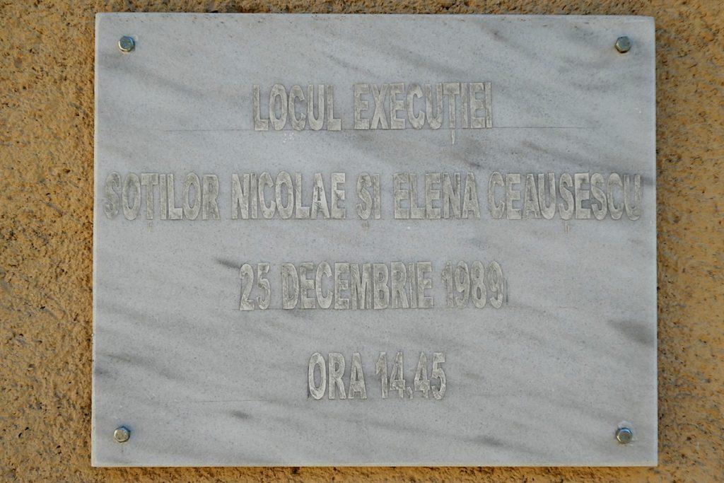ort der ceausescu exekution